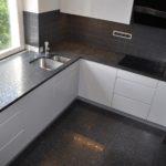 Blat granitowy i płytki podłogowe Steel Grey Lappato