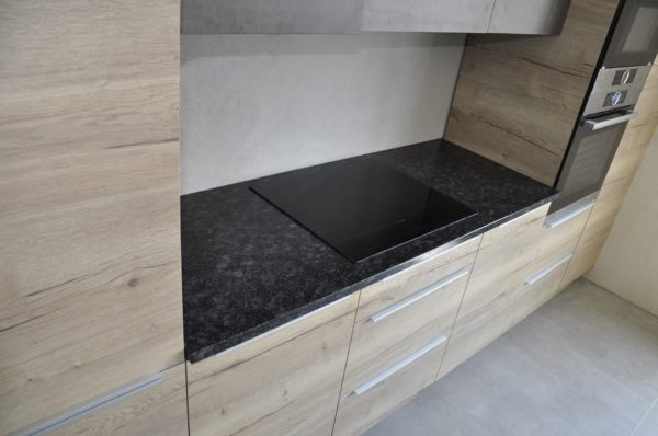 Blat kuchenny Steel Grey skóra PSGranit