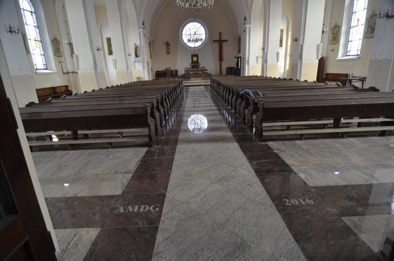 Płytki granitowe do kościoła na posadzkę PS Granit Gdynia