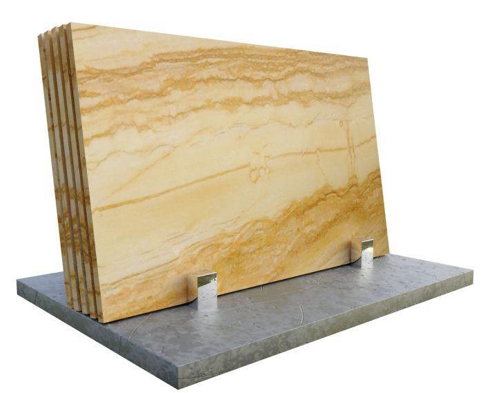 Macaubas Gold kwarcyt naturalny od PS Granit Gdynia