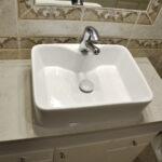 konglomerat kwarcowy Caladia blat łazienka toaleta