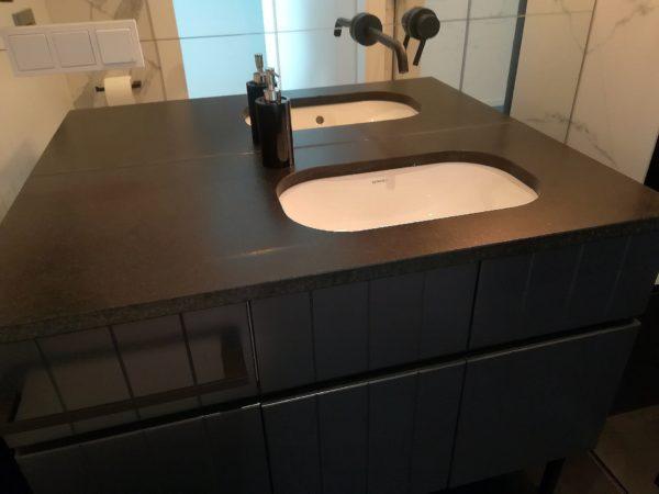 Black leather PS Granit