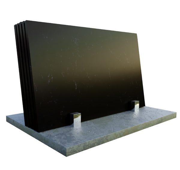 Marquina Black konglomerat kwarcowy kwarcogranit