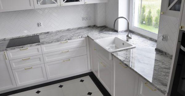 River White 3cm kamień kuchnia
