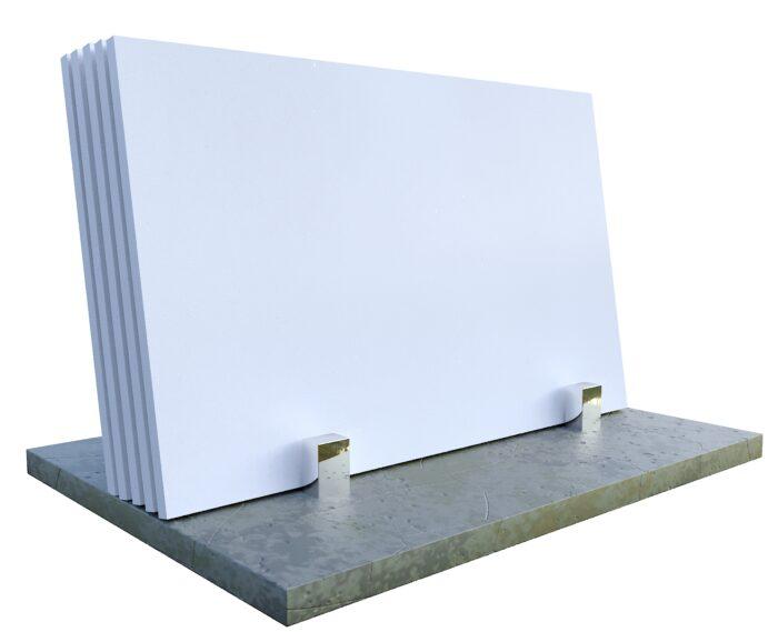 Konglomerat kwarcowy kwarcogranit Pure White